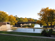 Autumn at Gene Leahy Mall in Omaha