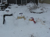 "The ""cool"" snowman family!"