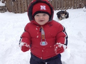 Cannon's first snow day!!