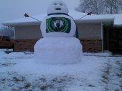 Huge Celtics snowman