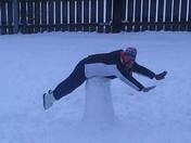 Snow planking. :)