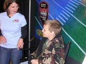 40/29's Tiffany Stewart with Jr. Sportscaster at RazorFest