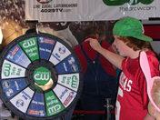 Spinning the wheel at RazorFest