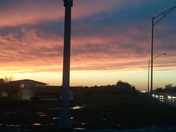 Front moving at sunset in papillion