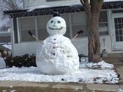 Denison, Iowa snowman