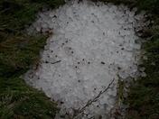 Hail still in the yard