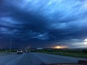 Sunrise and thunderstorm