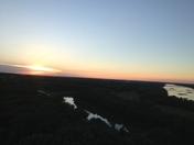 beautiful sunset at Mahoney park