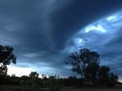 Awesome cloud formations
