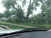 Aftermath of this mornings Thunderstorm