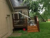 Storm damage at 180&F