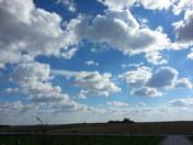 Spectacular Cumulus clouds- 1430 hrs 1 Nov 13