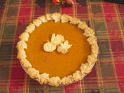Nicely dressed Pumpkin Pie