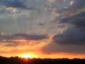 sunrise over loess hills