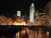 Omaha landscape during Christmas