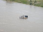 Deck in the Missouri River
