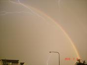 7_14 8:35pm Bennington Rainbow and Lightening after the storm