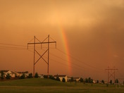 Rainbow after the storm with more storms moving in