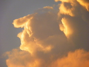 A woman in the clouds