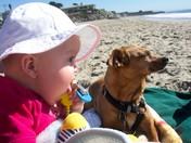 Sammie's 1st Visit to the Beach