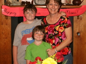 Mom and The kids on Mothers Day