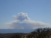 La Brea Fire seen from atop the Caliente Mountains around two hours after it sta