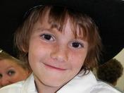 Little coyboy at a wedding