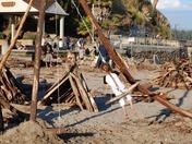 Capitola Beach driftwood swing