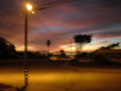 Seaside night sky