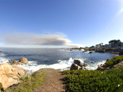 Fort Ord burn from Pacific Grove