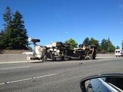 Concrete Truck Overturns on Highway 1 N at Morrissey