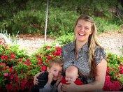 Mama, Harry, and Charli Mae at The Botanical Gardens of the Ozarks