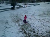 Sledding at J.B Hunt park