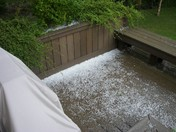 June 30 -- These are pictures off our back deck this afternoon at the Rosensteel