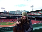 Mom and Daughter at Fenway