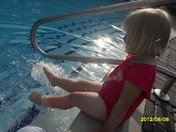 Watching Daddy swim