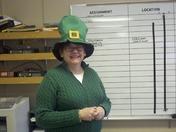 News 8 assignment guru Sharon Deveau-Handy celebrating St. Patrick's Day