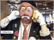 Farm Show Clown calling Corny