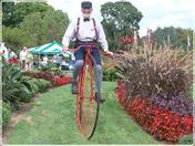 A Biker at Hershey Gardens