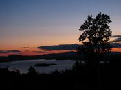 sun set over Rangeley