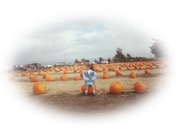 Eveyln at the Pumpkin Patch