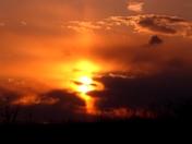 spring sunset over Mohrsville