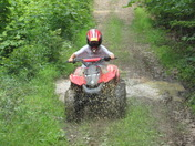 My son 4-wheelin