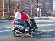 two beautiful women enjoying a spring like day