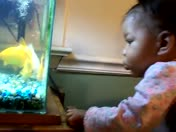 BABY REALLY LOVES FISH