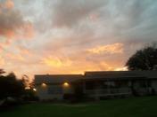 Sunset after Dover Nascar race
