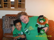 GREEN BEAR MOMMY AND COLIN