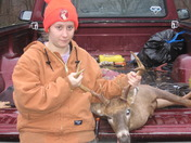 Amber bags a 7 pointer, first day