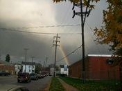 dark clouds/rainbow