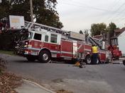 York fire truck gets stuck 10/14/09